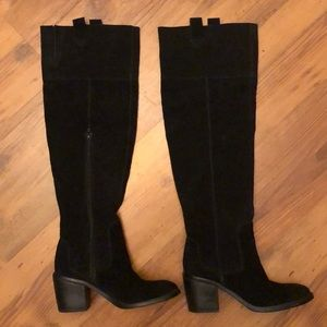 Seychelles Black Suede Over the Knee OTK boot 7